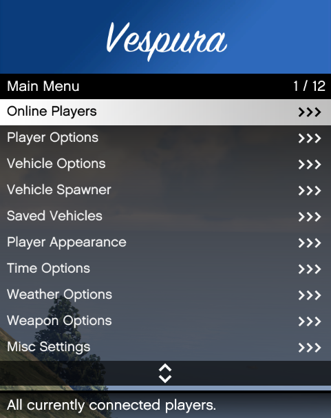 vMenu v3 0 3 - A server-sided menu including (almost) full